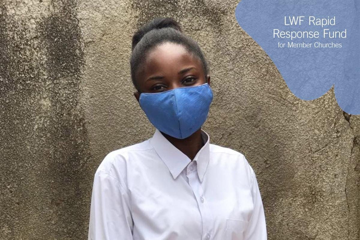 """Wear a mask. Respect the regulations and restrictions. The disease is still out there."" This is Ms Sandrine Ilunga's message to fellow youth, as DRC eases COVID-19 restrictions and her church, the Evangelical Lutheran Church in Congo, reaches out to students and their families. PHOTO: ELCCo"