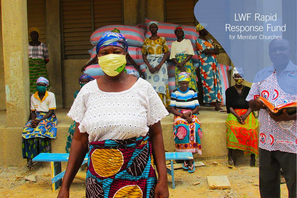 Madam Martha Abugri was among 13 needy widows who received food supplies at the ELCG Grace Lutheran Church in Narango, in the Upper Eastern region. Photo: ELCG/Prosper Atiiga