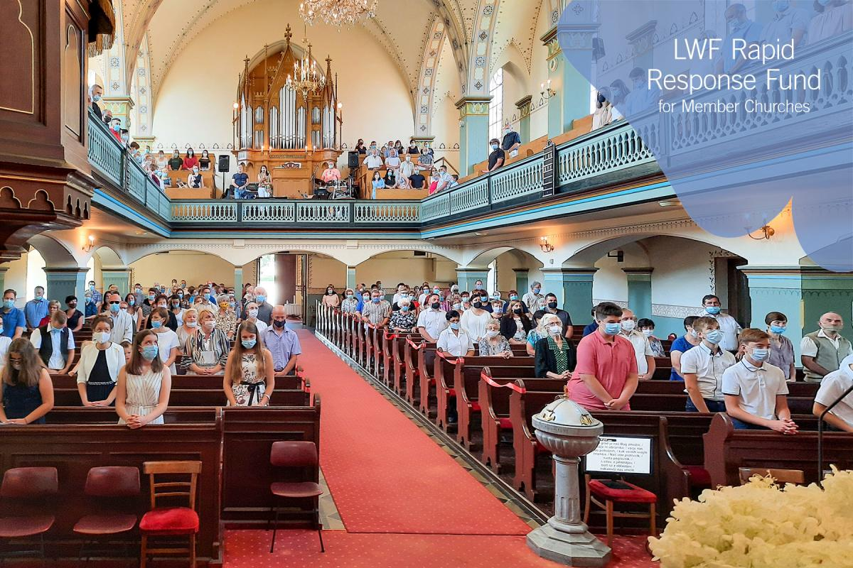 On 12 July, a confirmation service was held in Murska Sobota, observing the distancing and other rules. Photo: ECS