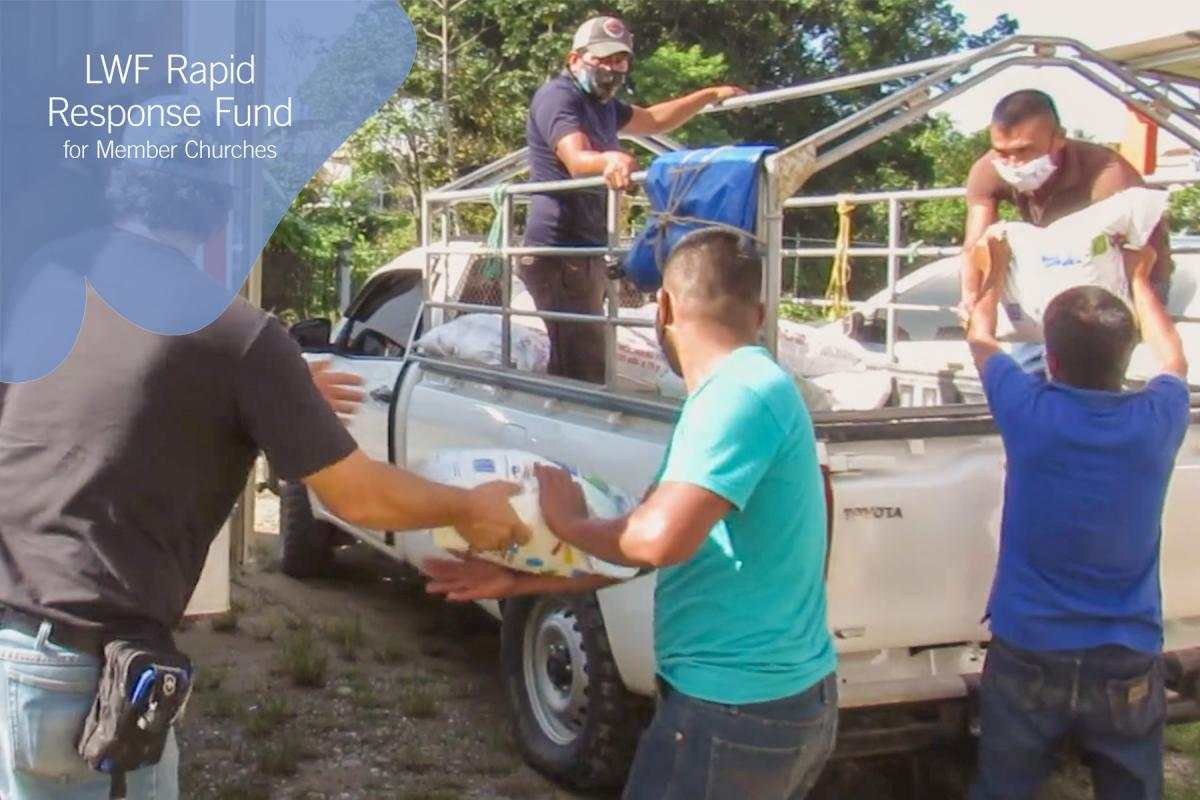 In its COVID-19 response, the Augustinian Lutheran Church of Guatemala distributed food and sanitation supplies to families living in remote villages. Photo: ILAG/Diego Gil