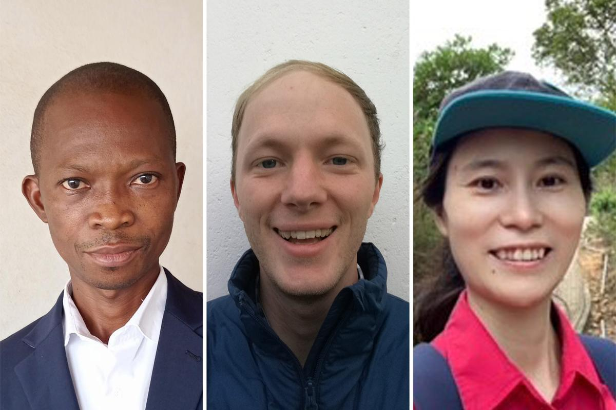 Scholars in the LWF 'Coming together meetings' included, from left: Emmanuel Lanbon (Ghana), Hans-Christoph Thapelo Lange (South Africa) and Haihong Lin (Hong Kong). Photo: Courtesy