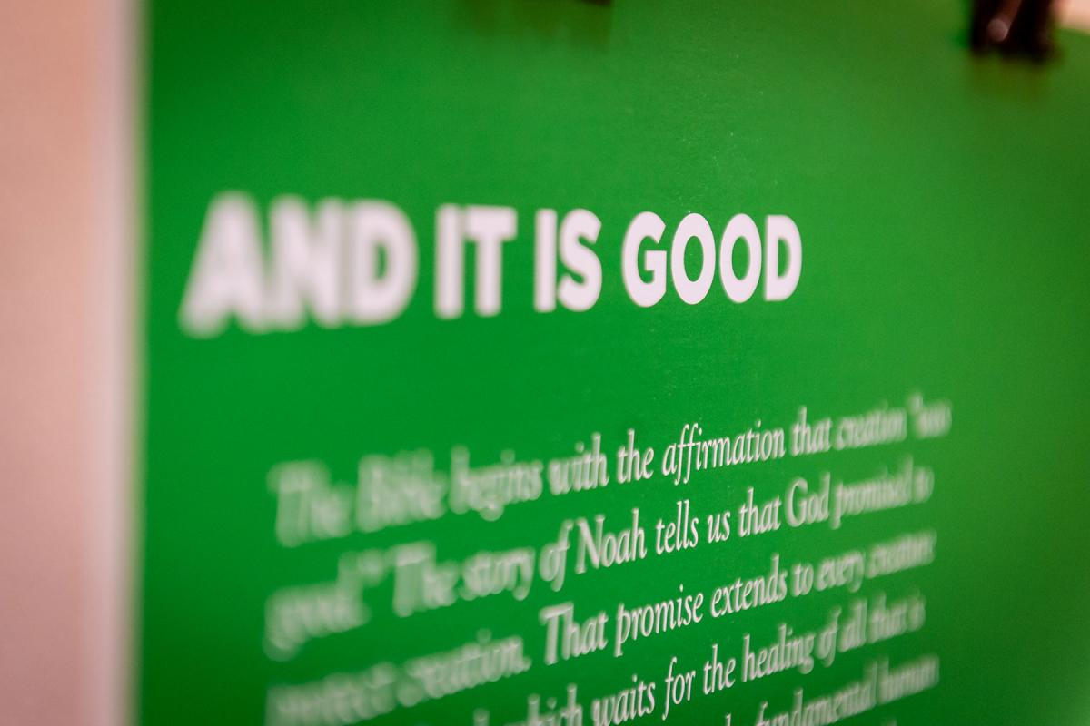 "One of the panels of the ""And It Is Good"" photo exhibition. Photo: LWF/S. Gallay"