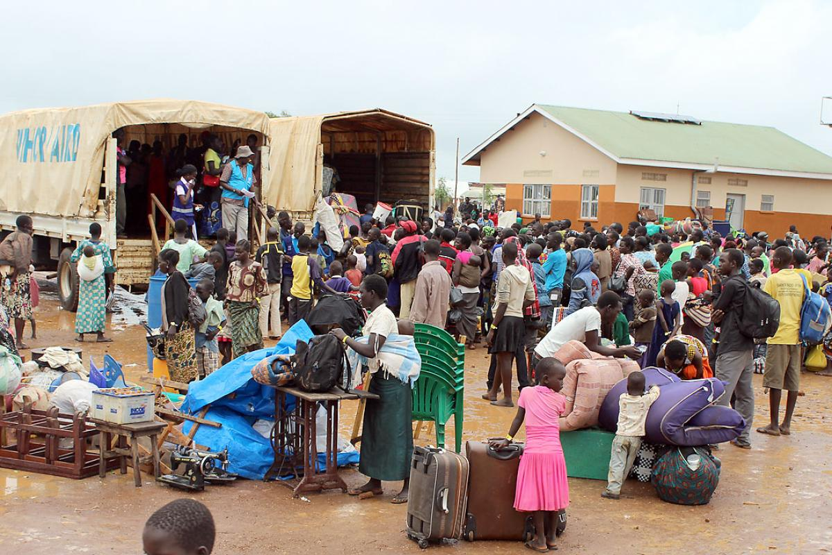 Refugees in Elegu reception center managed by LWF, at the border between South Sudan and Northern Uganda. Photo: LWF Uganda