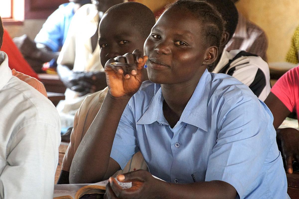 ALP students at Napatat Primary School, Ajuong Thok refugee camp. South Sudan. Photo: LWF/C. Kästner