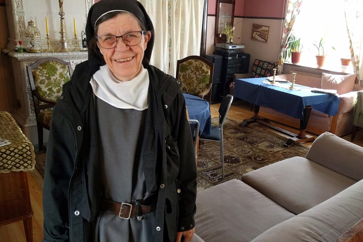 Swedish Lutheran Sister Karin Johansson. Photo: Richard Orange/Radio Sweden
