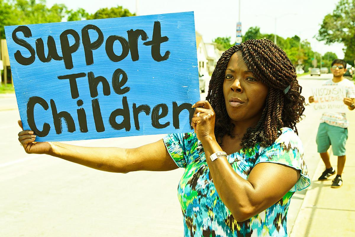 Rally in Wisconsin against deportation of children, July 2014. Photo: Light Brigading (via Flickr, CC-BY-NC)