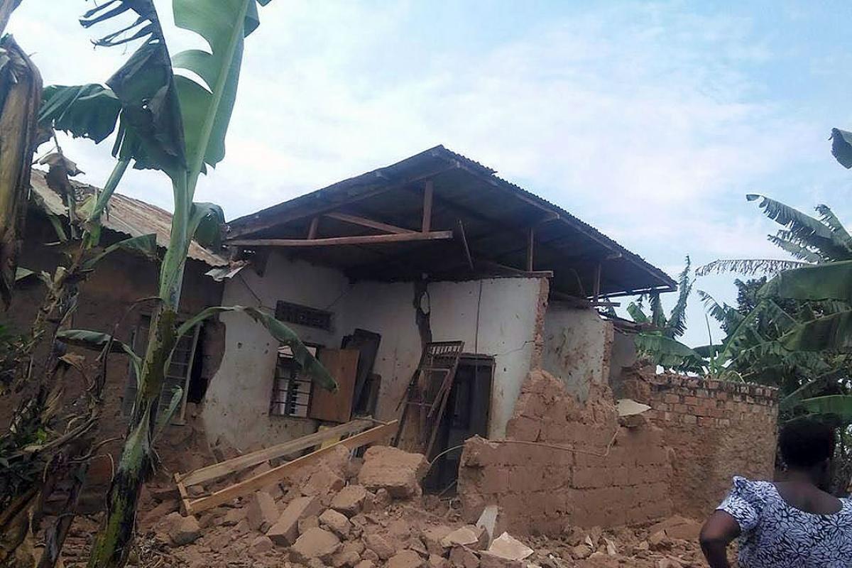 A damaged house in Bukoba. Photo: LWF/TCRS