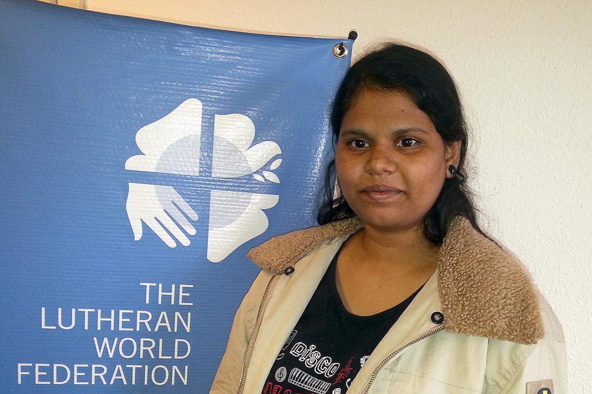 Ms Chrisida Nithyakalyani, UELCI youth secretary. Photo: LWF/P. Mumia