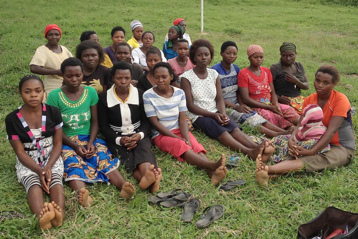 Young women in Rwamwanja settlement were one of the focal groups in the consultations. Photo: LWF/ S. Oftadeh