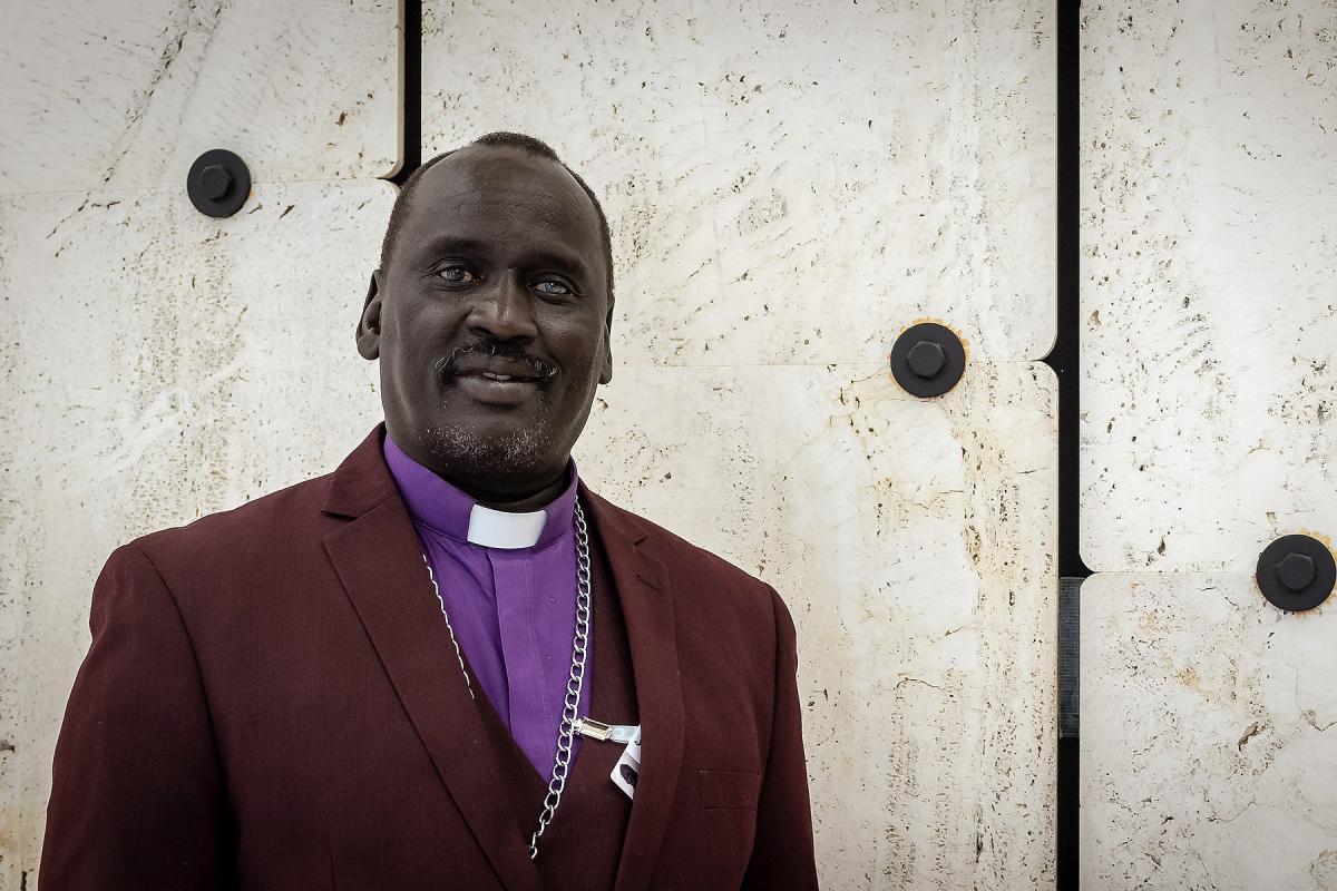 Bishop Isaiah Majok Dau, presiding bishop of the Sudan Pentecostal Church. Photo: LWF/A. Danielsson