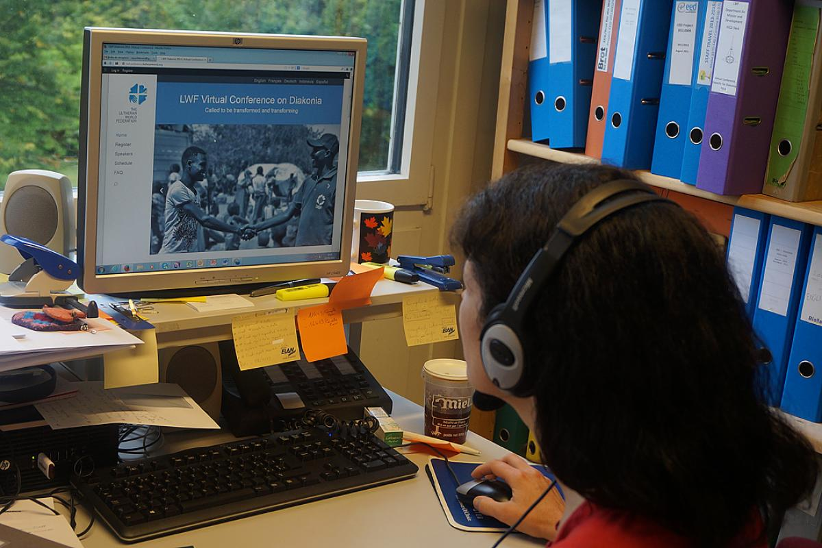 Second LWF virtual conference on diakonia. Photo: LWF/H. Martinussen