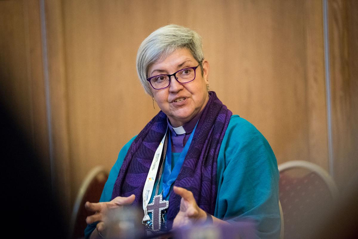Evangelical Lutheran Church in Canada National Bishop Susan Johnson pictured in 2017 at the LWF Twelfth Assembly in Windhoek, Namibia. Photo: LWF/Albin Hillert