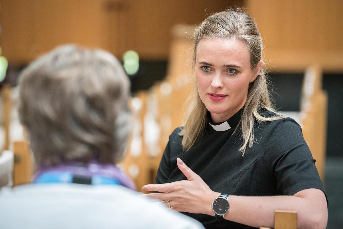 Thuridur Björg Wiium Arnadottir is one of the youngest Lutheran pastors, serving in The Evangelical Lutheran Church of Iceland. Photo: LWB/Albin Hillert
