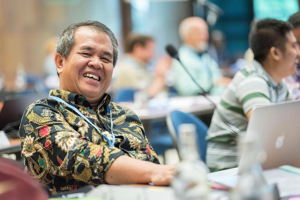 LWF Council member Bishop Dr Tuhoni Telaumbanua. Photo: LWF / Albin Hillert