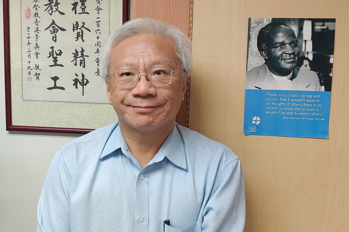General Secretary of the Chinese Rhenish Church Hong Kong Synod, Mr. Leon Chau in his office in Hong Kong. Photo: CRCHKS