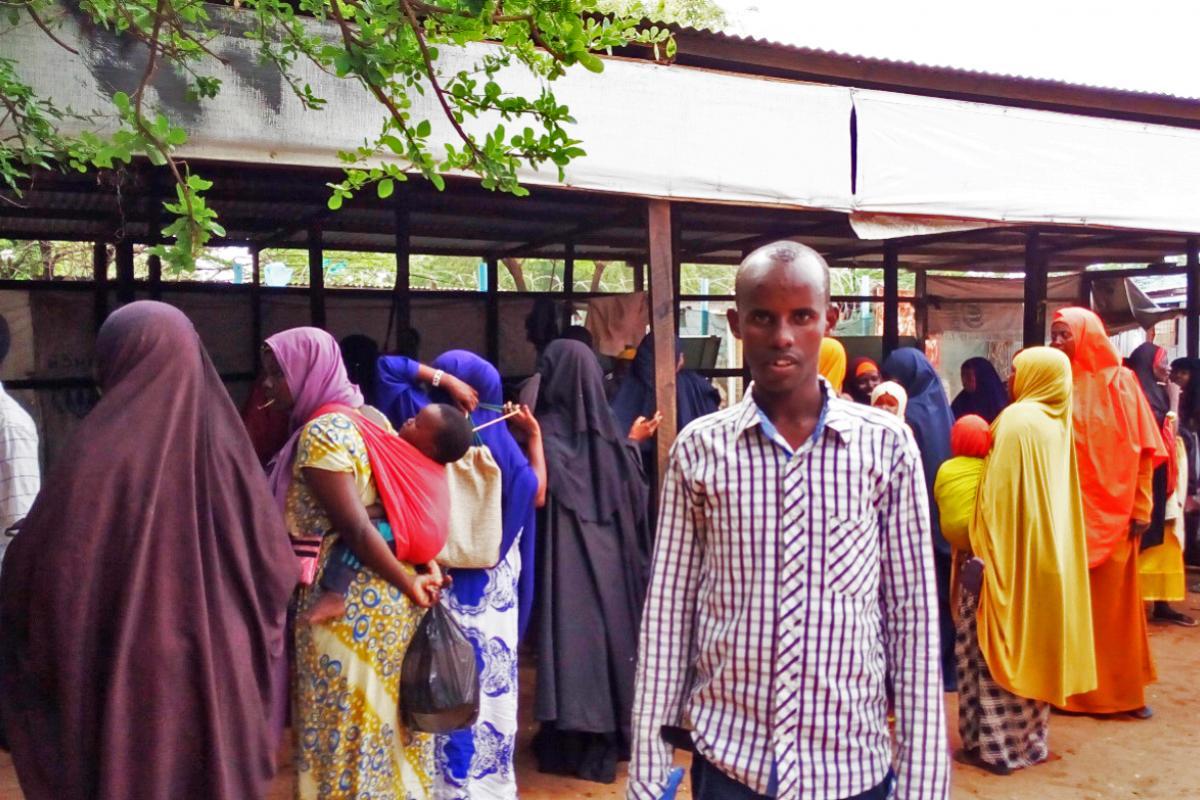 Kader Ali Ahmed in Hagadera, a part of the Dadaab refugee camp in Kenya. Photo: LWF Kenya