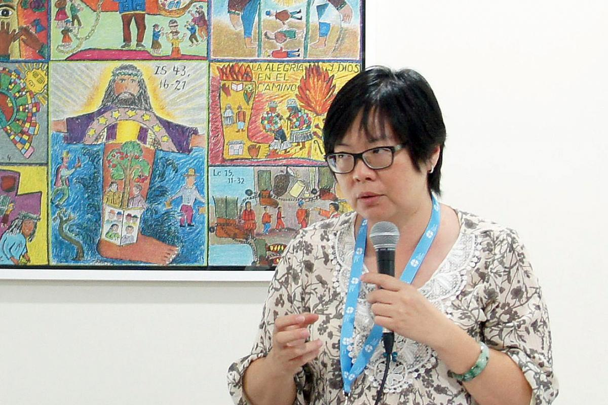 Rev Au Sze Ngui at the 2014 WICAS Asia meeting. Photo: LWF/C. Rendón