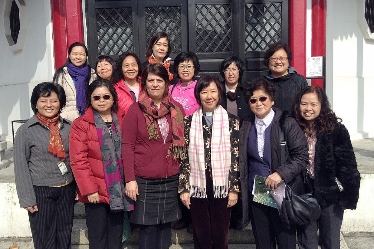 The North East Asian Lutheran Communion women theologians together with the LWF Secretary for Women in Church and Society. Photo: LWF