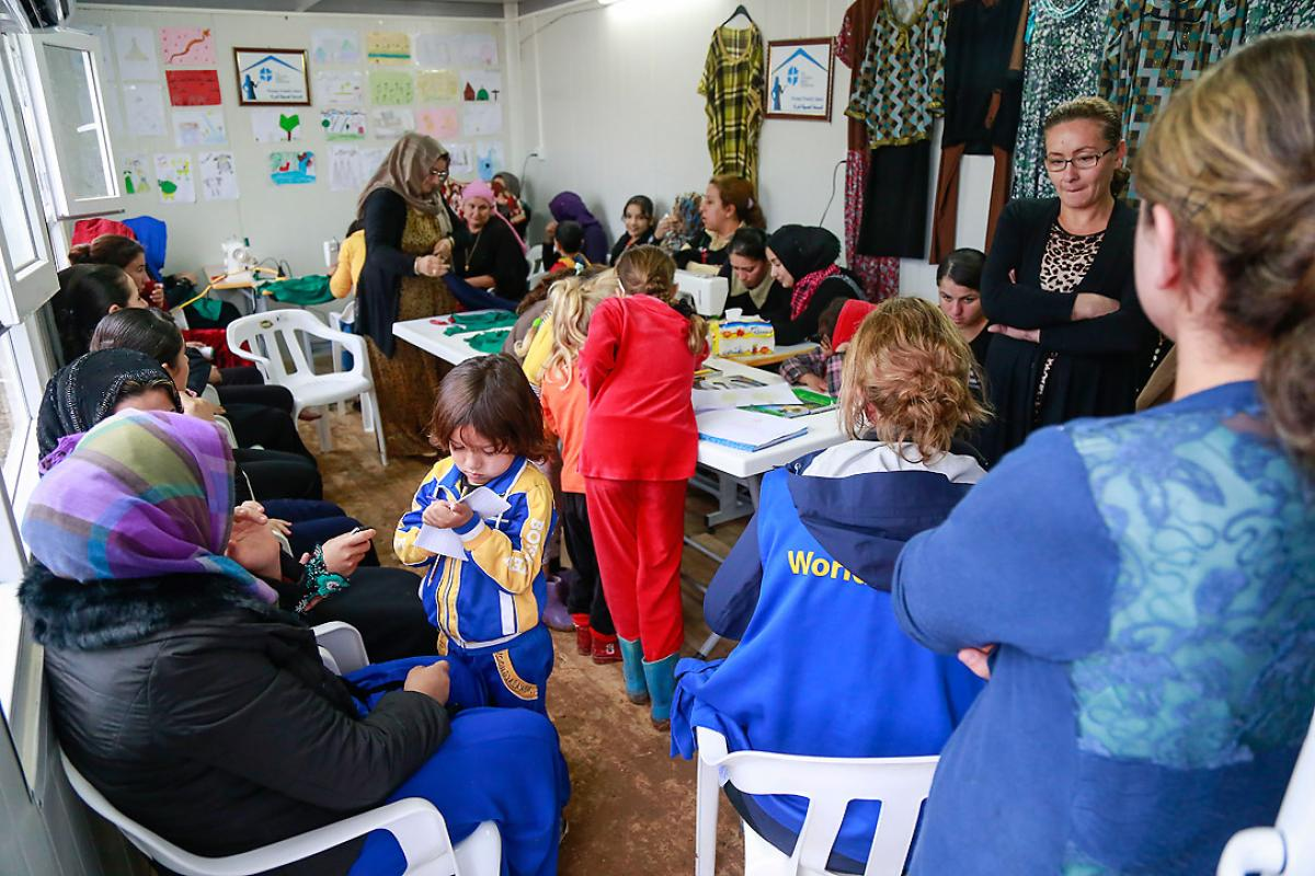 Women-friendly space in Davudiya refugee camp, Northern Iraq. Photo: LWF/ Seivan Salim