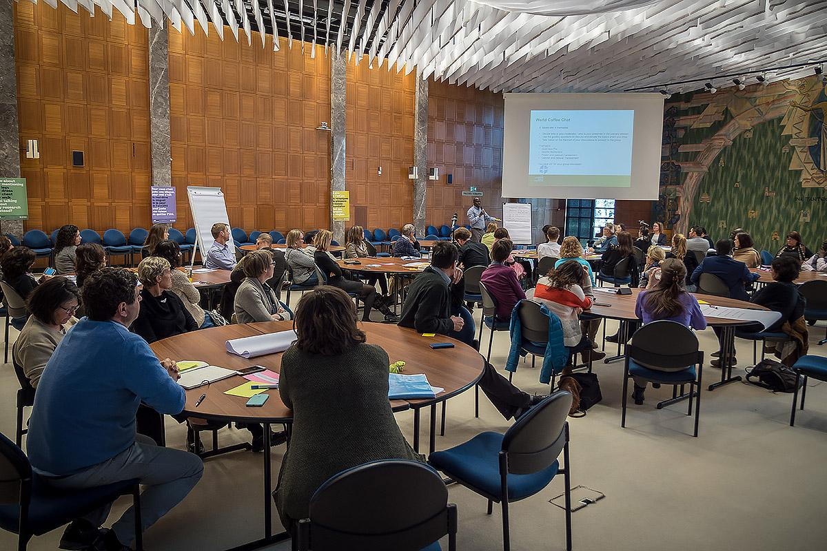 LWF Communion Office staff participate in a workshop on preventing sexual harassment in the workplace. The workshop followed the 2017 Assembly commitment to focus work on eliminating sexual and gender based violence. Photo: LWF/S. Gallay