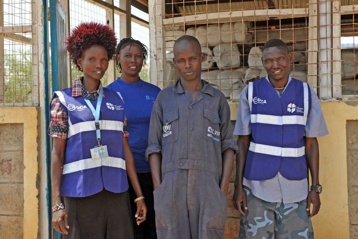 LWF staff at Nadapal transit center, Kenya. About 500 arrive each week, fleeing war and famine. 22 June 2017. Foto: LWF/ C: Kästner