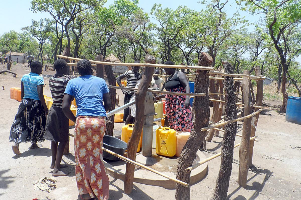 One of the new boreholes in Adjumani. Photo: LWF Uganda