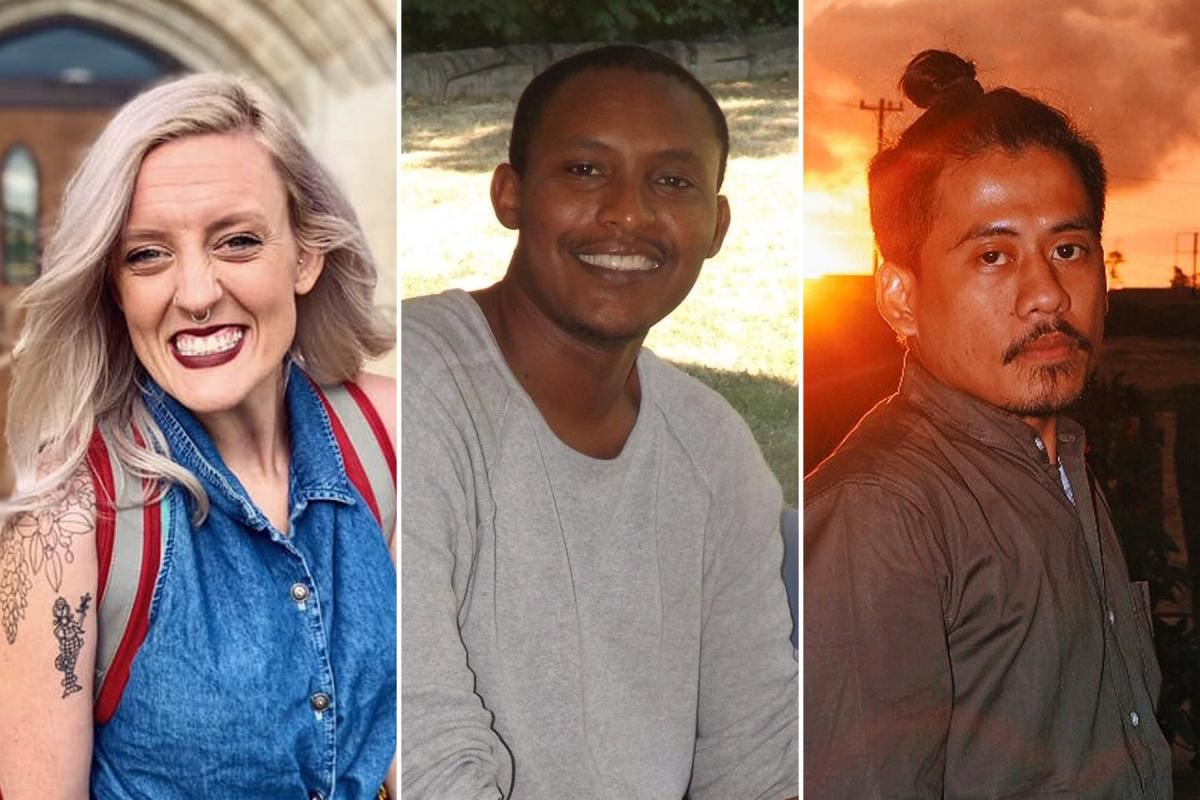 Three LWF Young Reformers brought topics of care, security and mental health during COVID-19 to the launch of a monthly online gathering. Photo (collage): LWF/S.Gallay