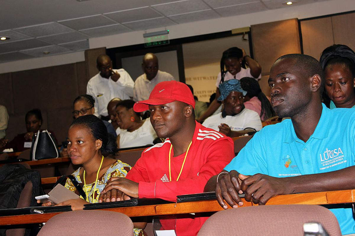 African youth at the LWF climate project training, Johannesburg, South Africa. Photo: LUCSA